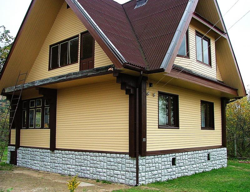 Металлический сайдинг фото домов