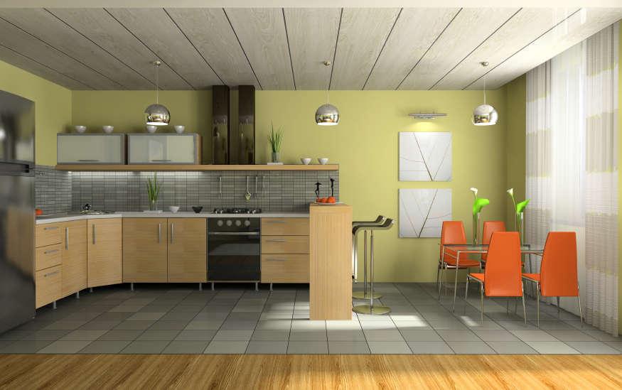 Пластиковые потолки на кухне дизайн